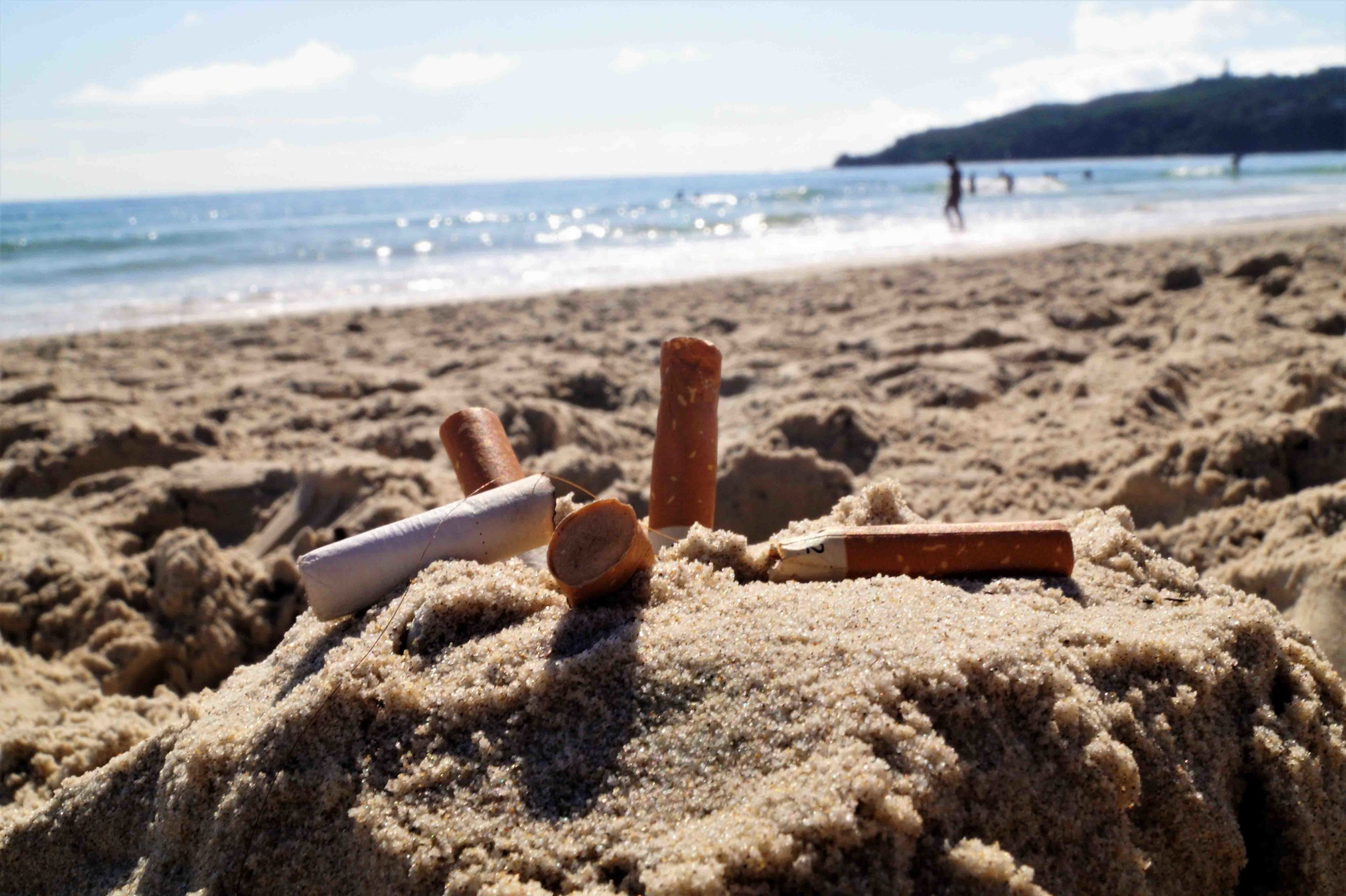 Cigarette butt litter has made up over 80% of our litter survey findings on Main Beach in Byron Bay over the past 6 years.