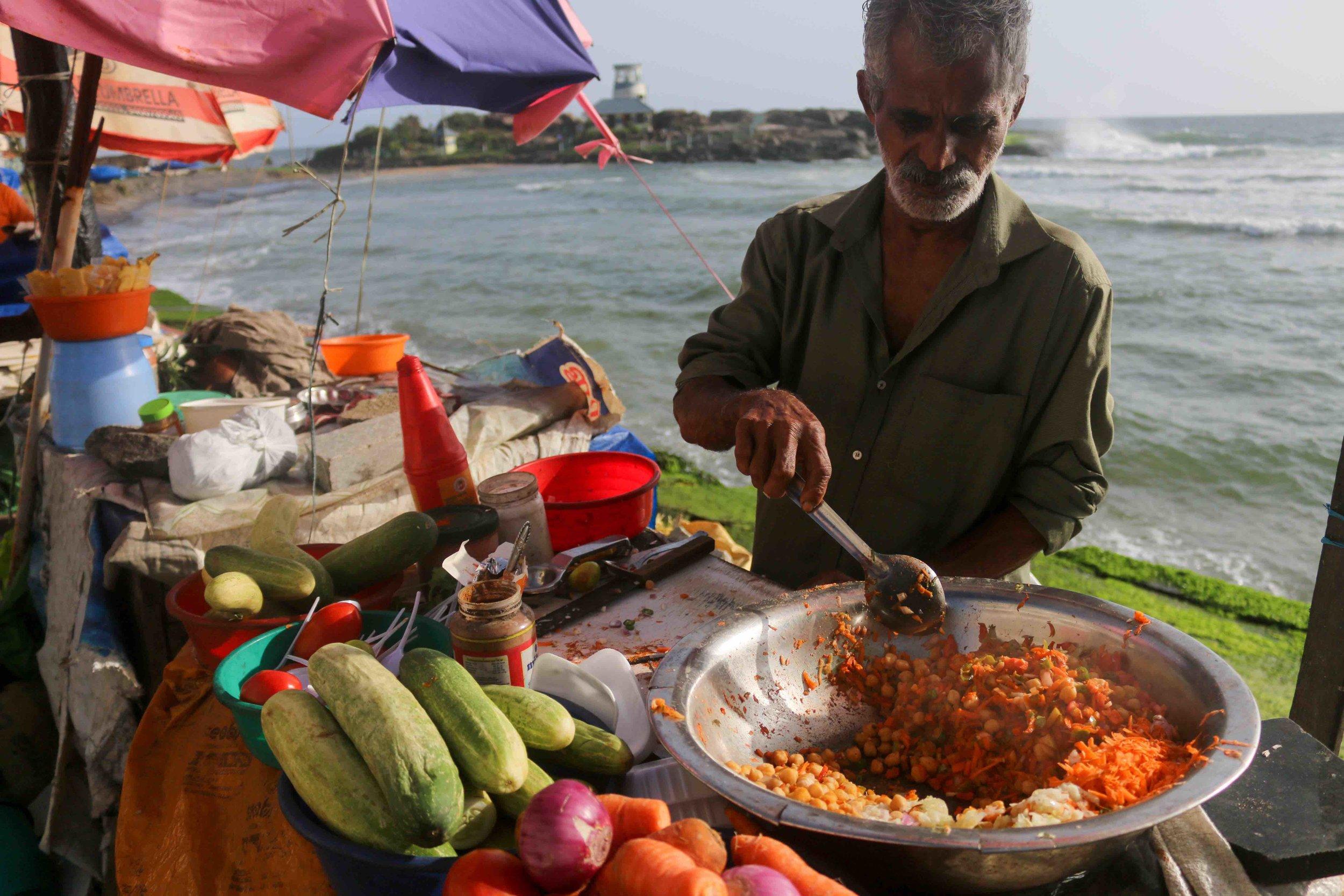 Street food vendors serving incredible food…
