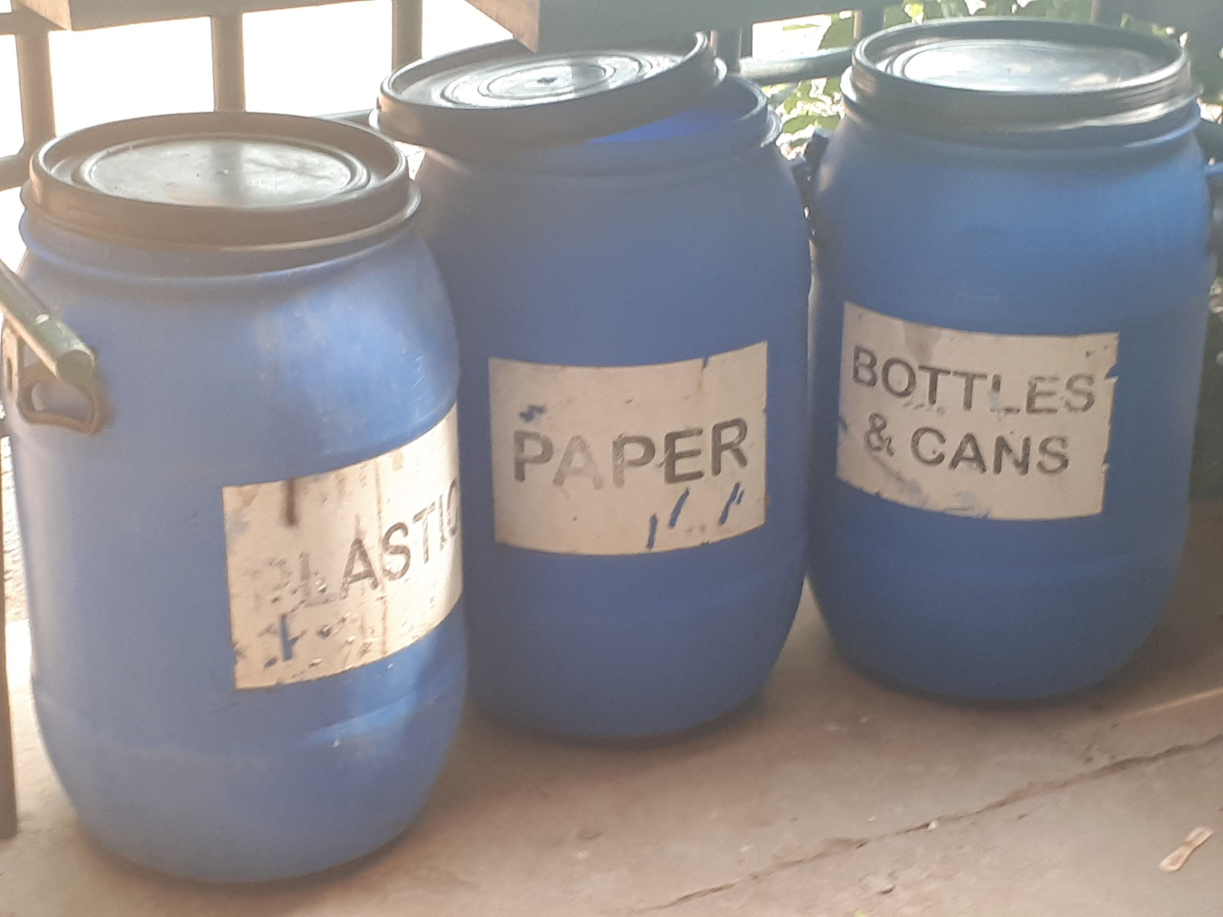 Recycling bins! We hope to implement the first multi-stream waste management system in the region, paving the way to positive change and healthier oceans!