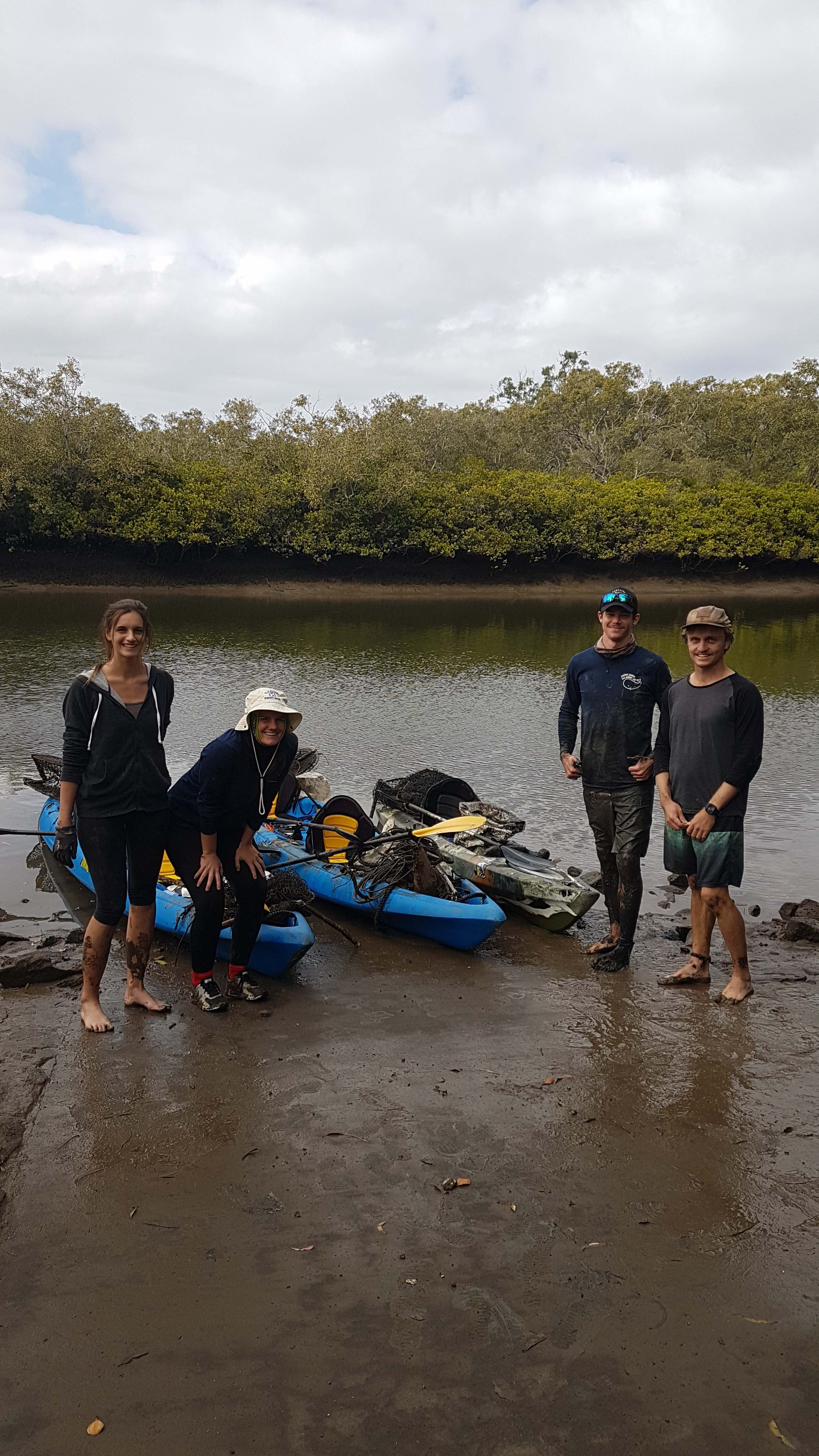 Our local team after another successful survey on Tingalpa Creek. So far the team have collected over 6,800 pieces of debris in just 7 surveys!