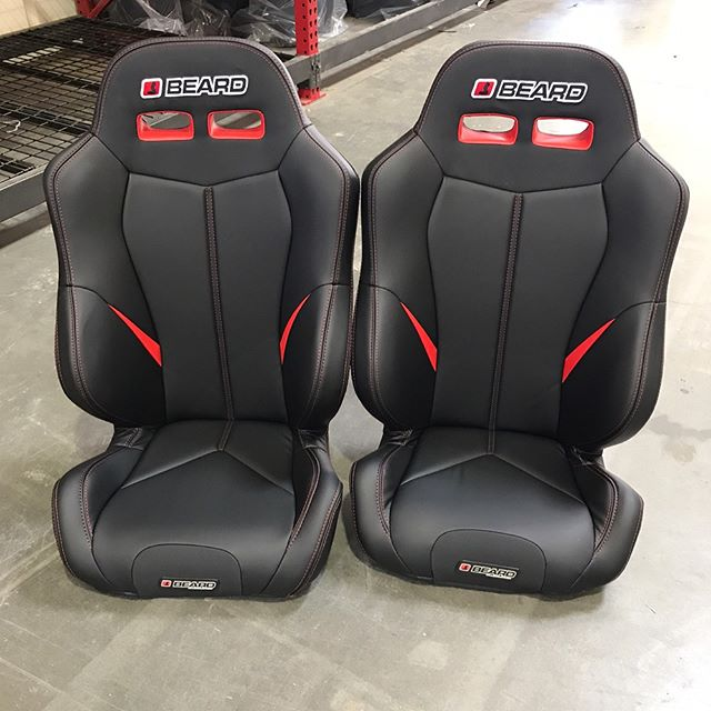 *******deals are being made******** We have 2 Full Size Torque (red and black) and 2 Short Cushion (rear) Torques (red and black). We also have 2 All Black Torque Short Cushions. $299 Each, will be at Riverside 9-11 this Saturday (each seat retails $429. Could be picked up Monday or Tuesday (with credit card hold). #thingsarehappening #beardseats