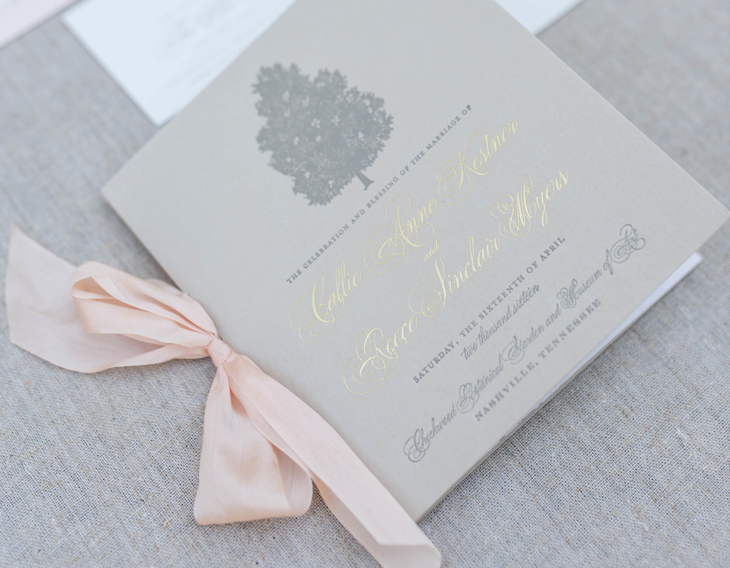 Wedding Program ©TennHens