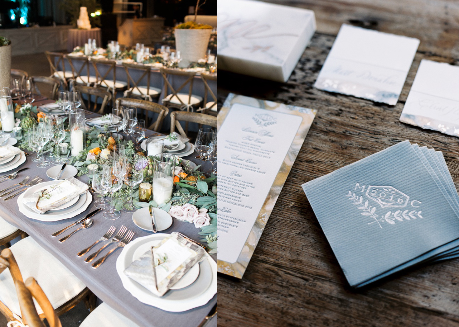 table setting napkins