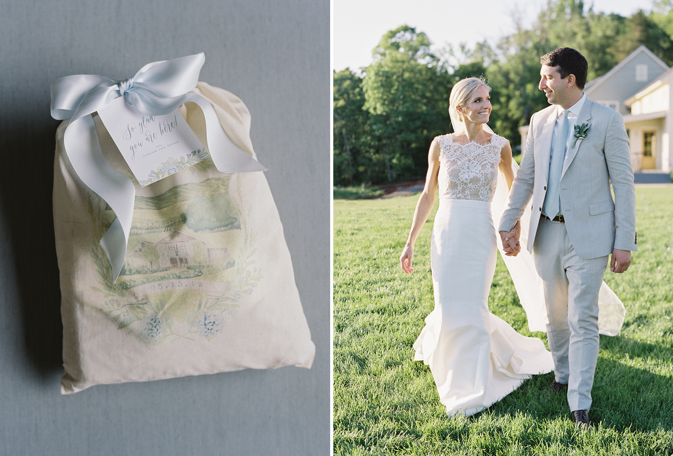 beautiful guest bags printed  by  The Detail Darling