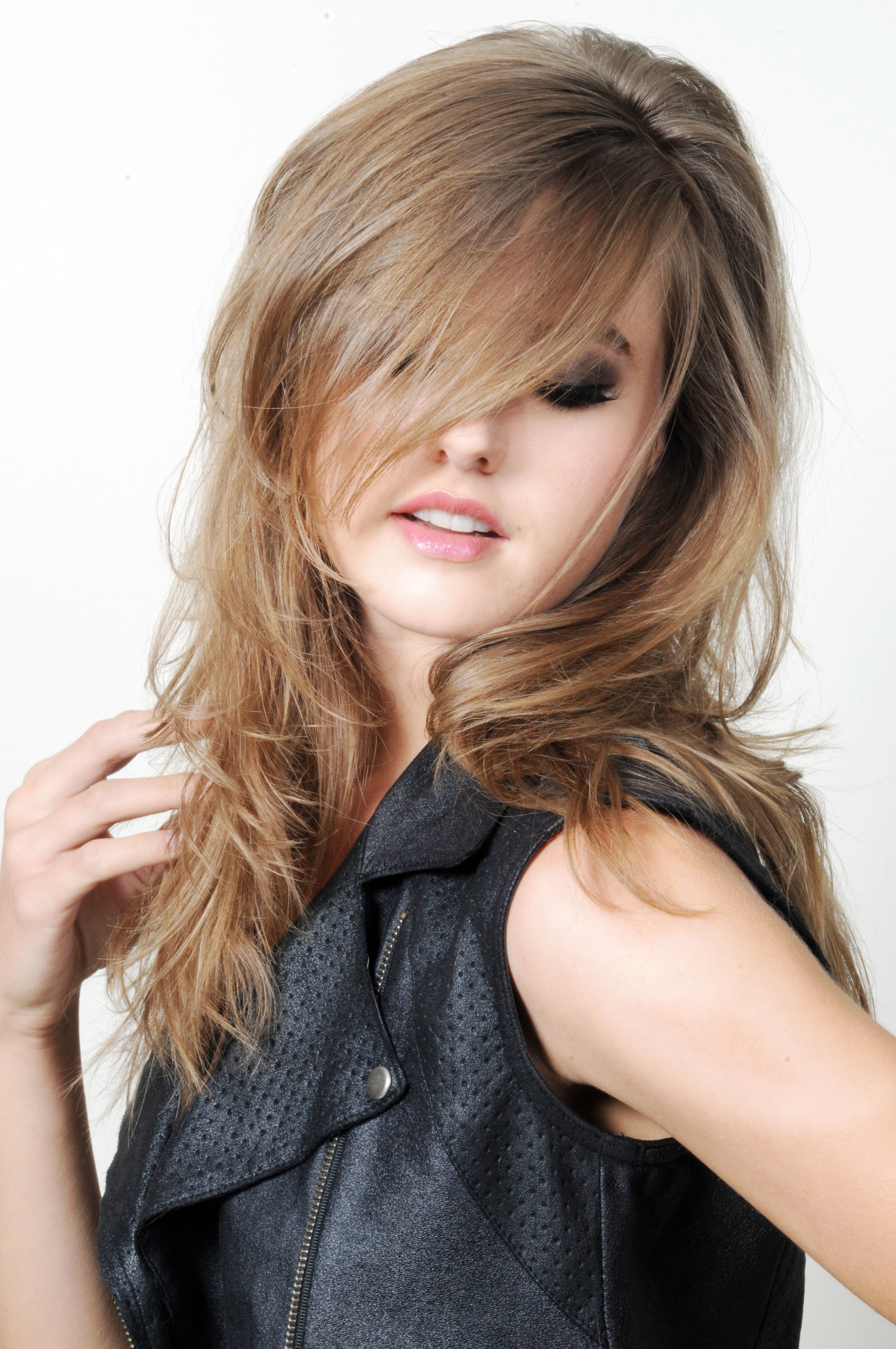 Caramel Blonde Color and Highlights - Textured Cut