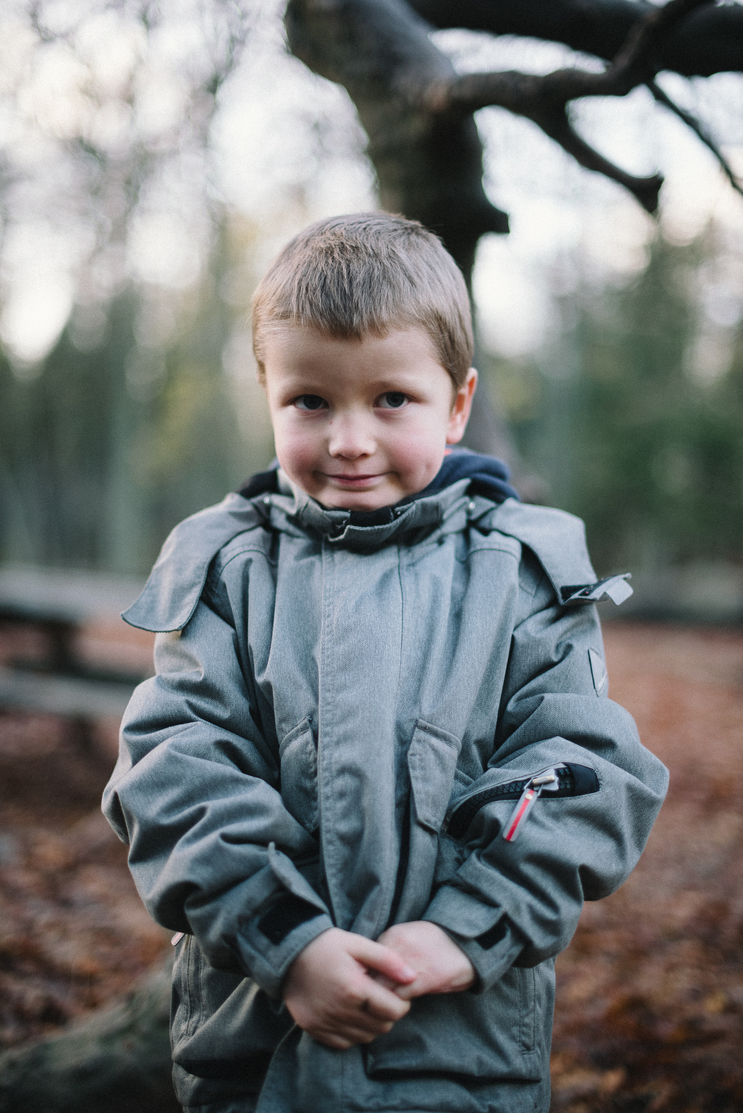 Family Portraits, Winter Forest Shoot, Denmark.