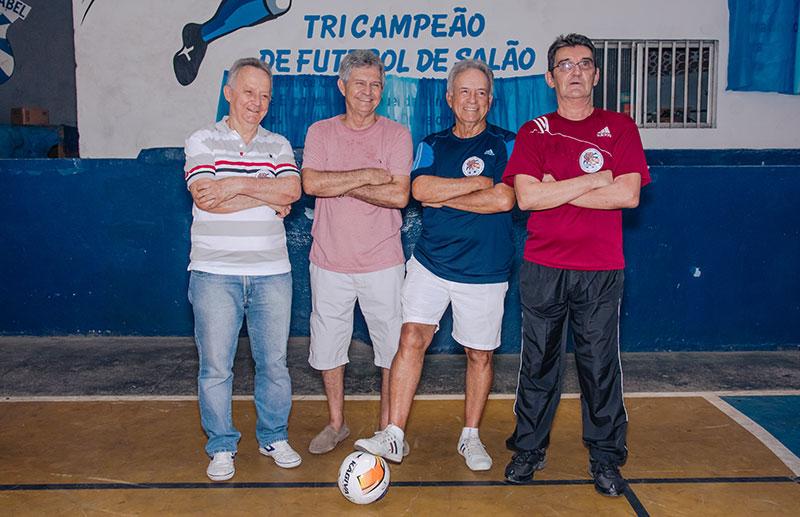 Adilson, Serginho, Celso e Aécio.  O quarteto do Vila, um dos melhores de todos os tempos.