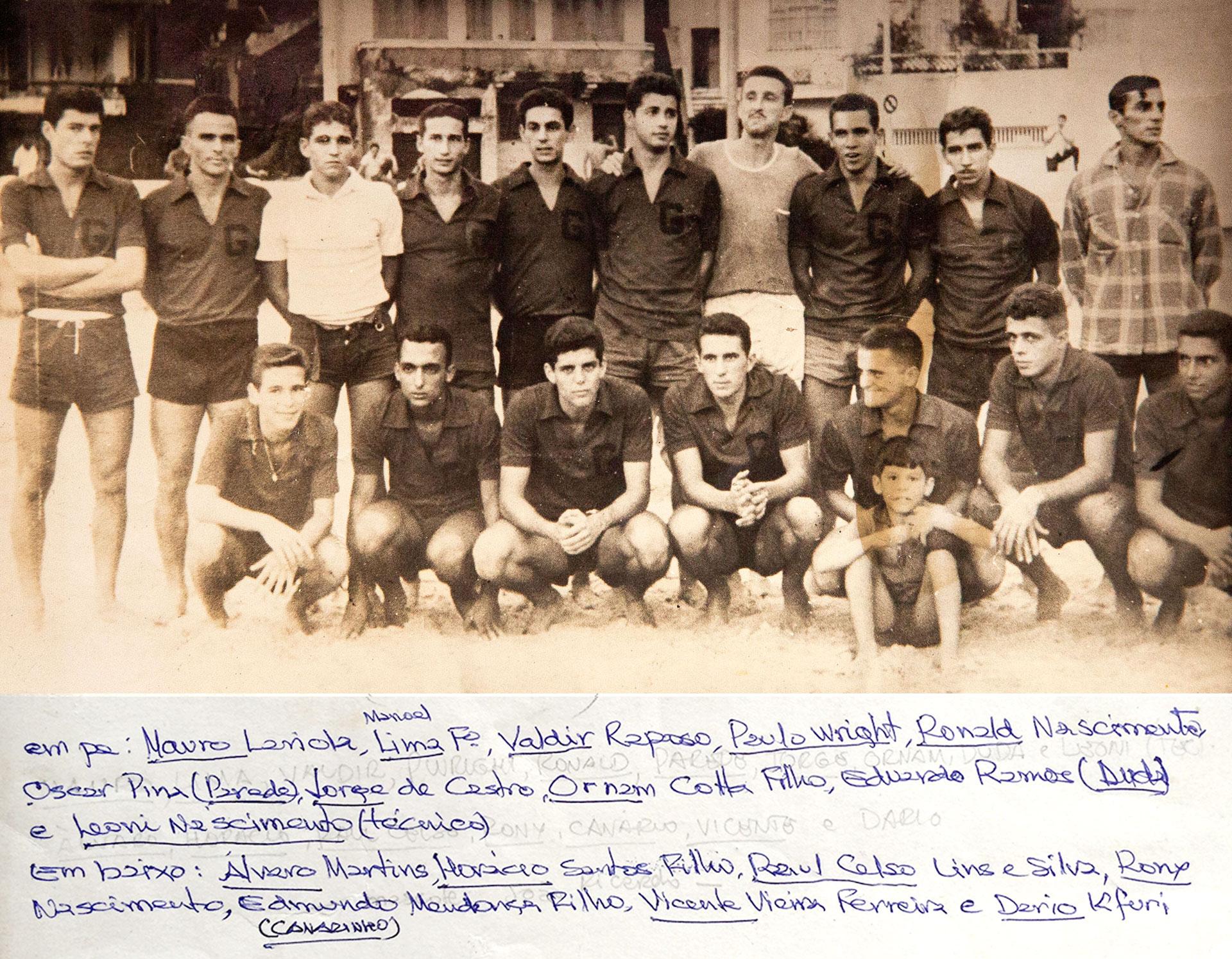 Time do Guaíba, campeão do Carioca de 1960.