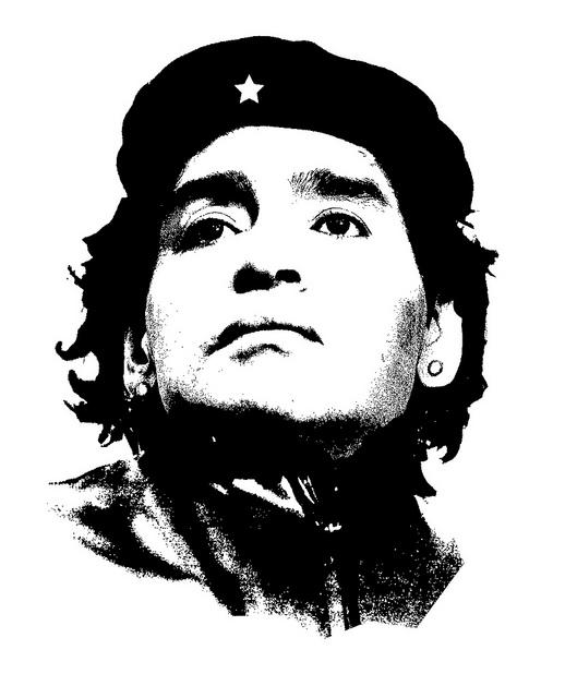 Maradona travestido de Che Guevara.