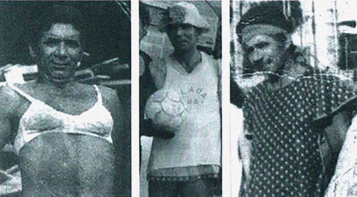 """A """"Enciclopédia"""" Nilton Santos em três momentos de descontração no Carnaval."""
