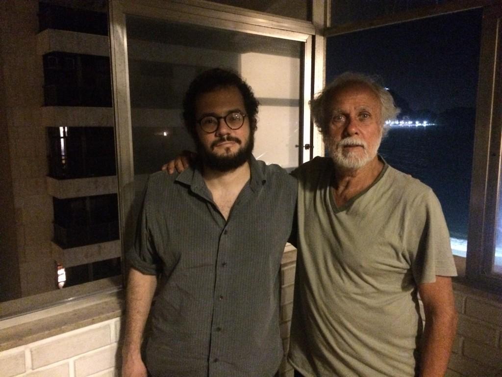 Lucio Branco e Afonsinho, agosto de 2015, Copacabana [crédito: paulo silva jr/sarriá]