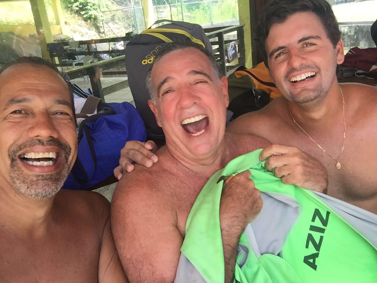 Tico, Ney Pereira e Guido Ferreira se divertiram respondendo as perguntas