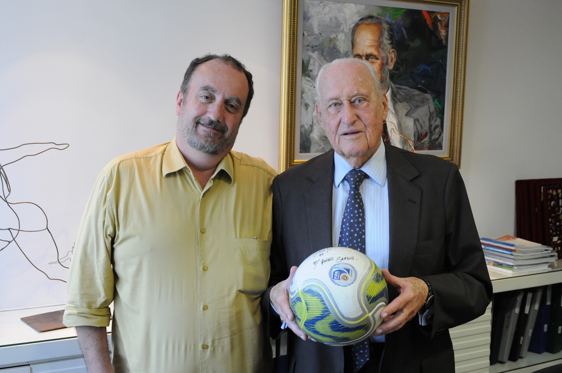 Guillermo Planel e João Havelange, no dia da entrevista.