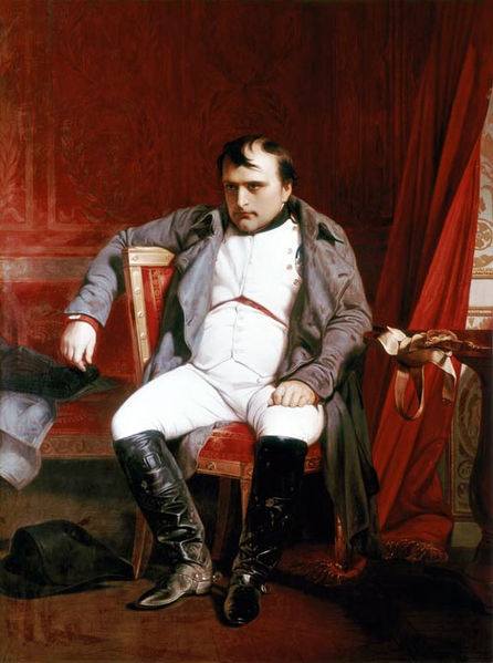 Quadro de 1845, de Paul Delaroche, mostra um Napoleão bem chateado