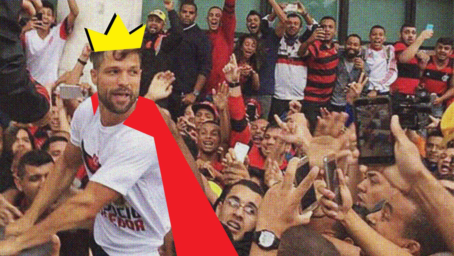 Diego teve recepção de gala no aeroporto do Rio de Janeiro