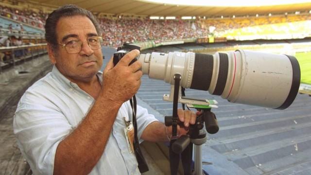 O fotógrafo tinha um cantinho reservado no Maracanã