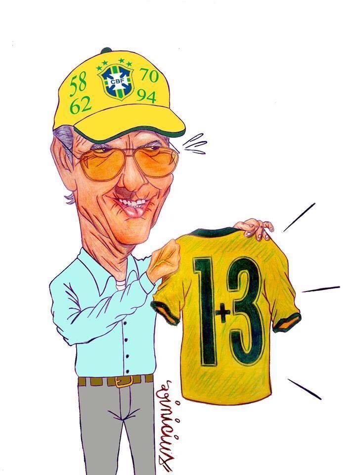 """Neymar homenagem Zagallo após a conquista, com a famosa frase """"vão ter que me engolir"""""""