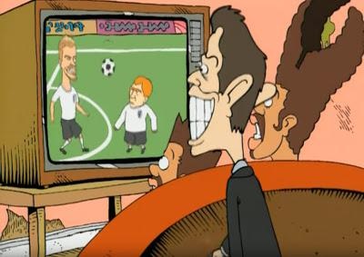 Ingleses assistindo a Copa do Mundo pela televisão