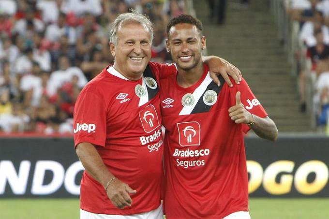 Zico e Neymar fizeram boas tabelas (Foto: Alexandre Brum/Estadão Conteúdo)