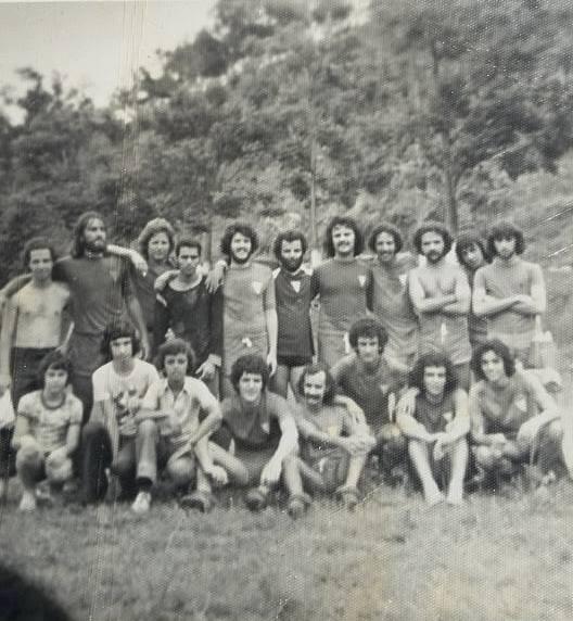 Os amigos da juventude de Victor Kingma, em Juiz de Fora, nos anos 70