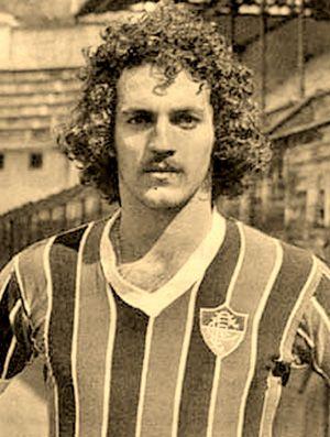 Abel Braga com a camisa do Flu em 1971