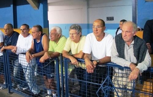 Da esquerda para direita: Tamba, Tião Búfalo, Álvaro, Mauro Bandit, Serginho do Vila, Paulo Shaolin e Paulinho Careca.