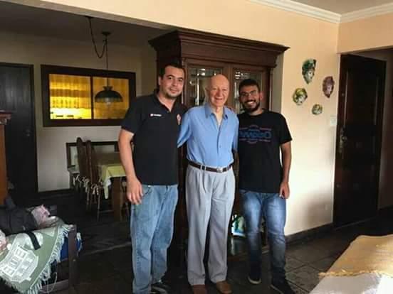 Mateus Ribeiro, Claudio Carsughi e Vini Lima