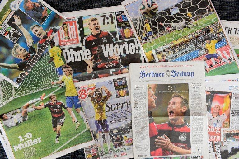Manchetes de jornais alemães