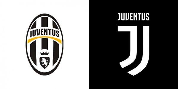Escudo da Juventus antes e depois