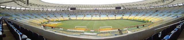 O formato em cuia que caracteriza todos os estadios padrão-FIFA aplicado ao Maracanã(Foto: Pedro Redig)