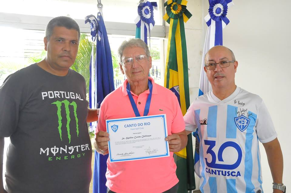 Marquinhos Pereira, presidente Rodney Melo e Hipólito Chillinque