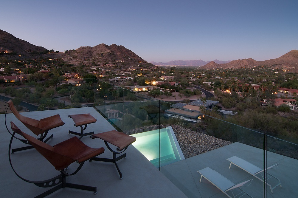 concrete flooring, Arizona, scottsdale, chandler, phoenix, pool, Arizona sunset, sunset, mountains