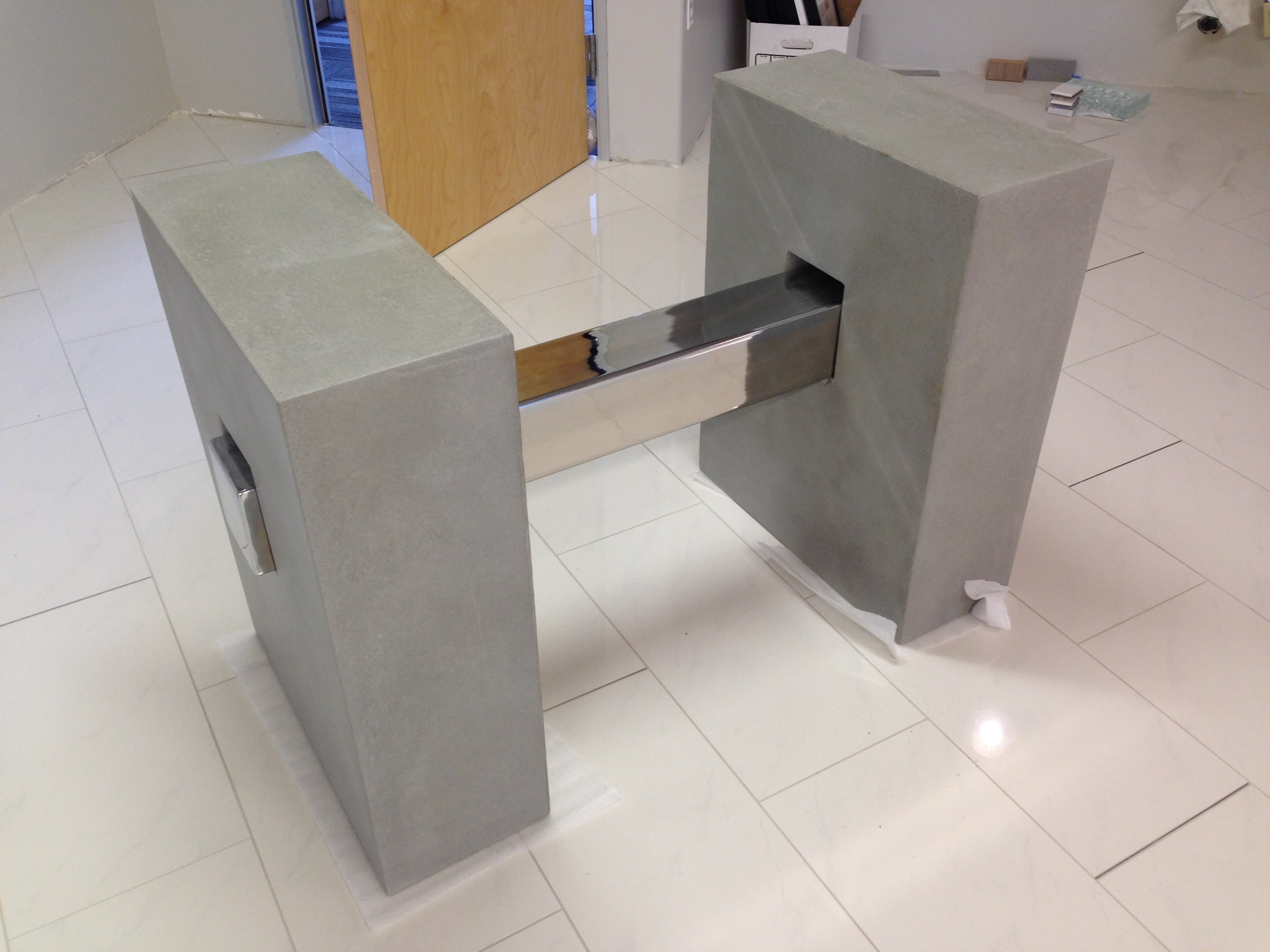 custom furniture, metal, coffee table, center piece, concrete, Arizona,