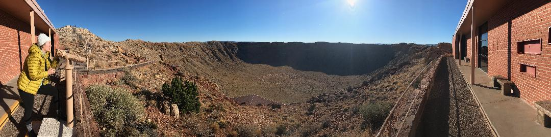 Awesome photography credited to the gifted Byron - Meteor Crater outside of Flagstaff, Arizona..