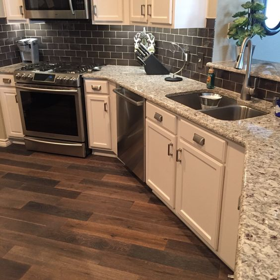 Engineered Wood Kitchen Remodel