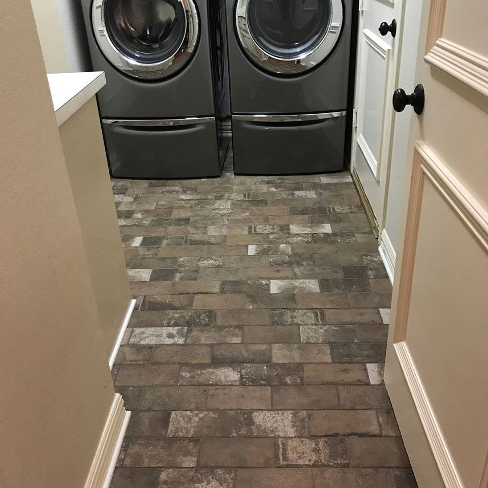 Brick Paver Laundry Room