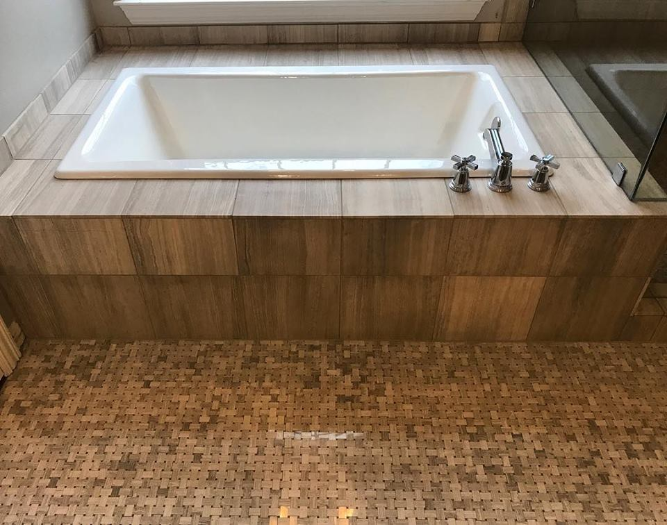 Natural Stone Bathroom Remodel
