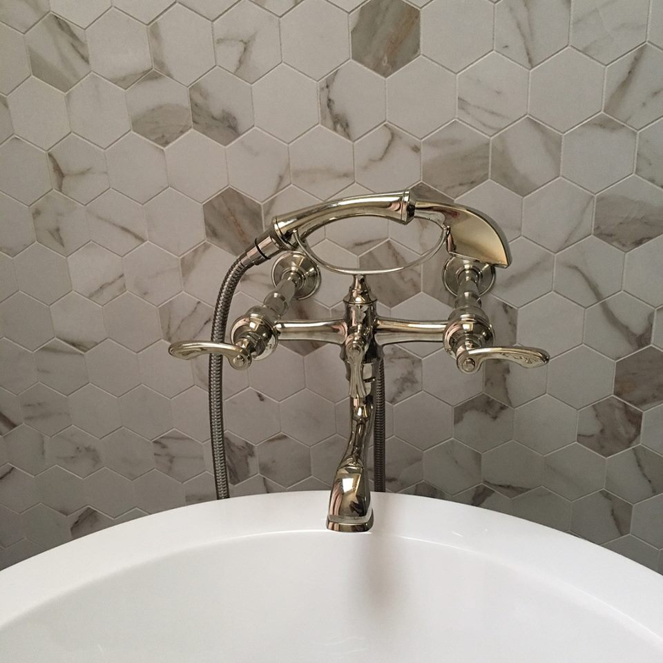 Marble Hex Walls