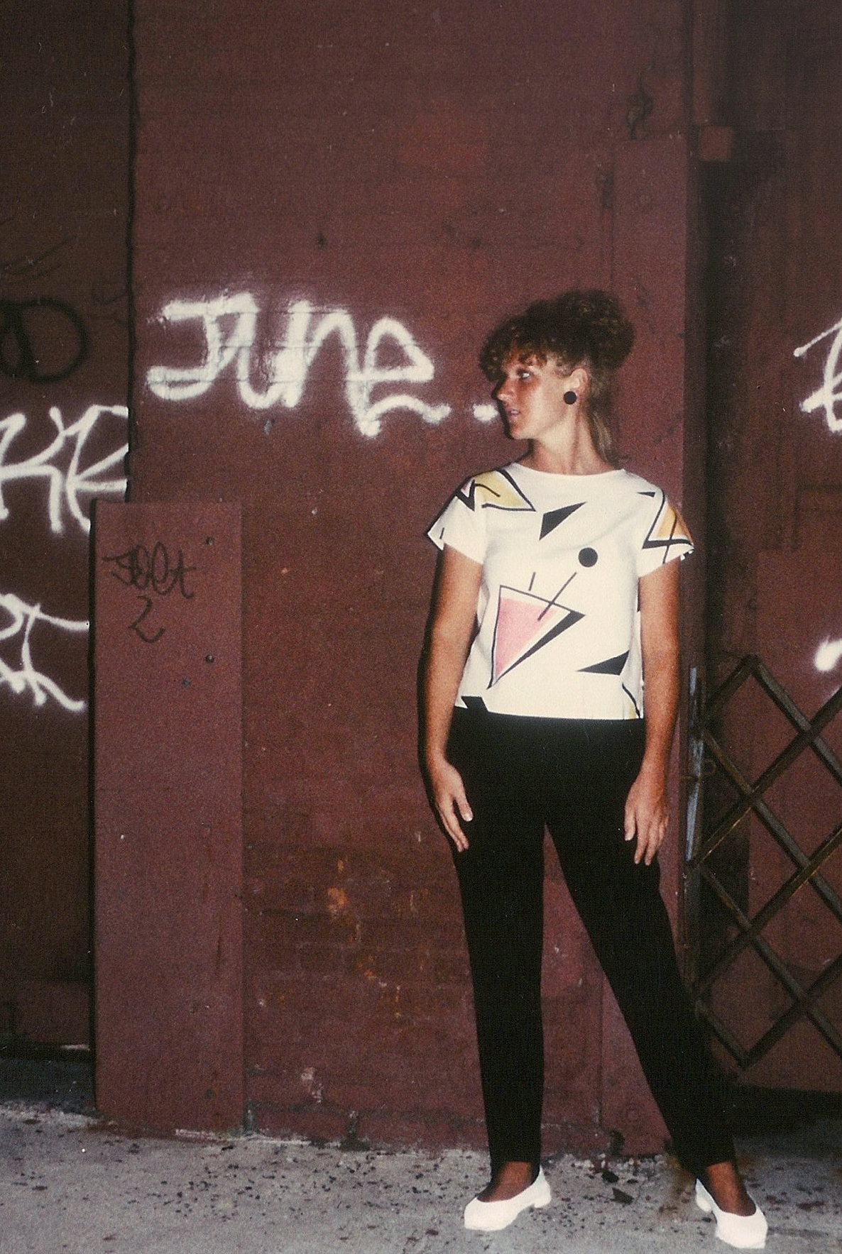 New York collection printed, cut and made by Rowena Luke-King. Photographed by Janise Everett; Brooklyn 1980.