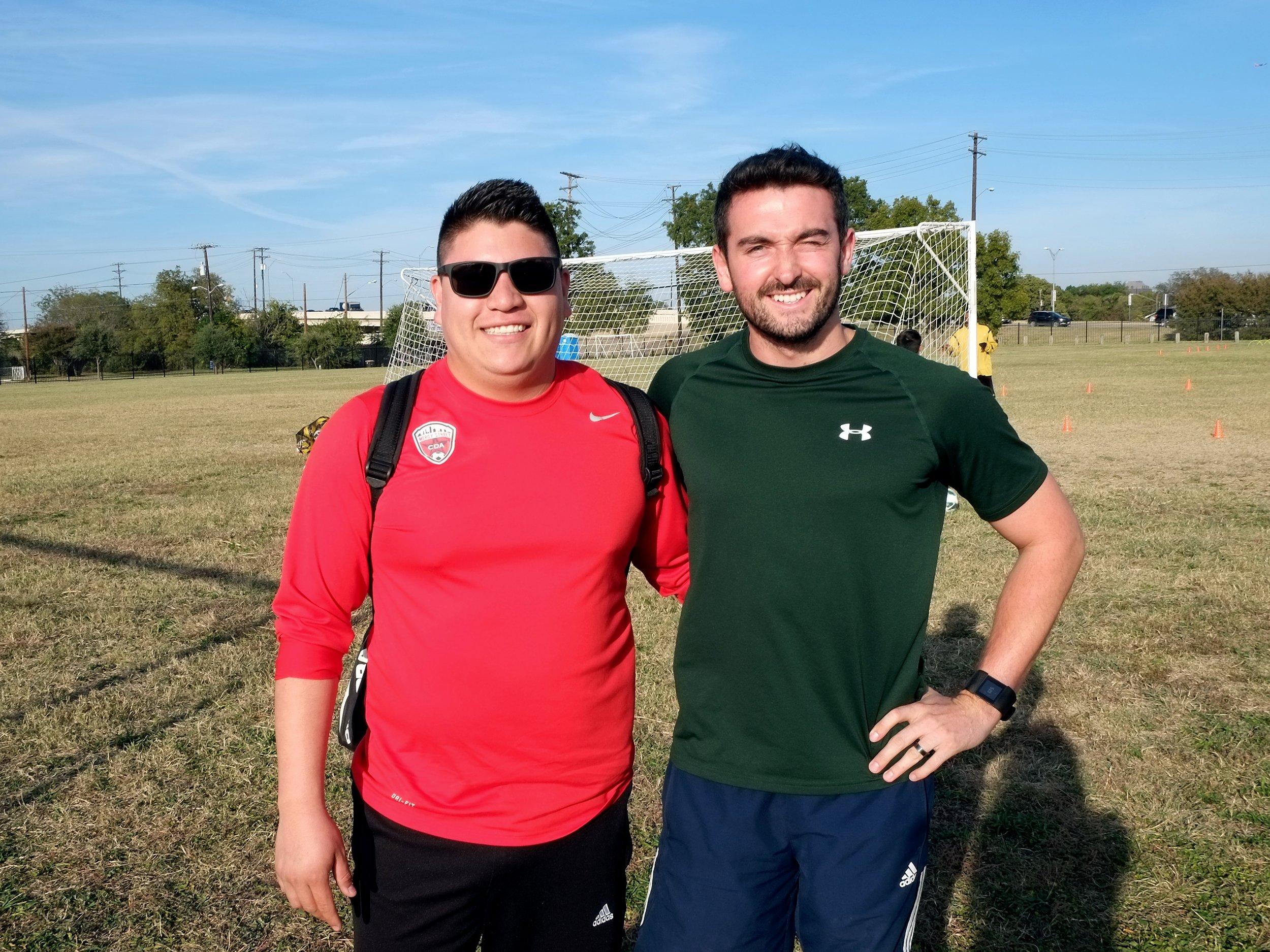 Coach Julio with Mercy Street's Leadership Institute Coordinator, Jonny Armstrong.