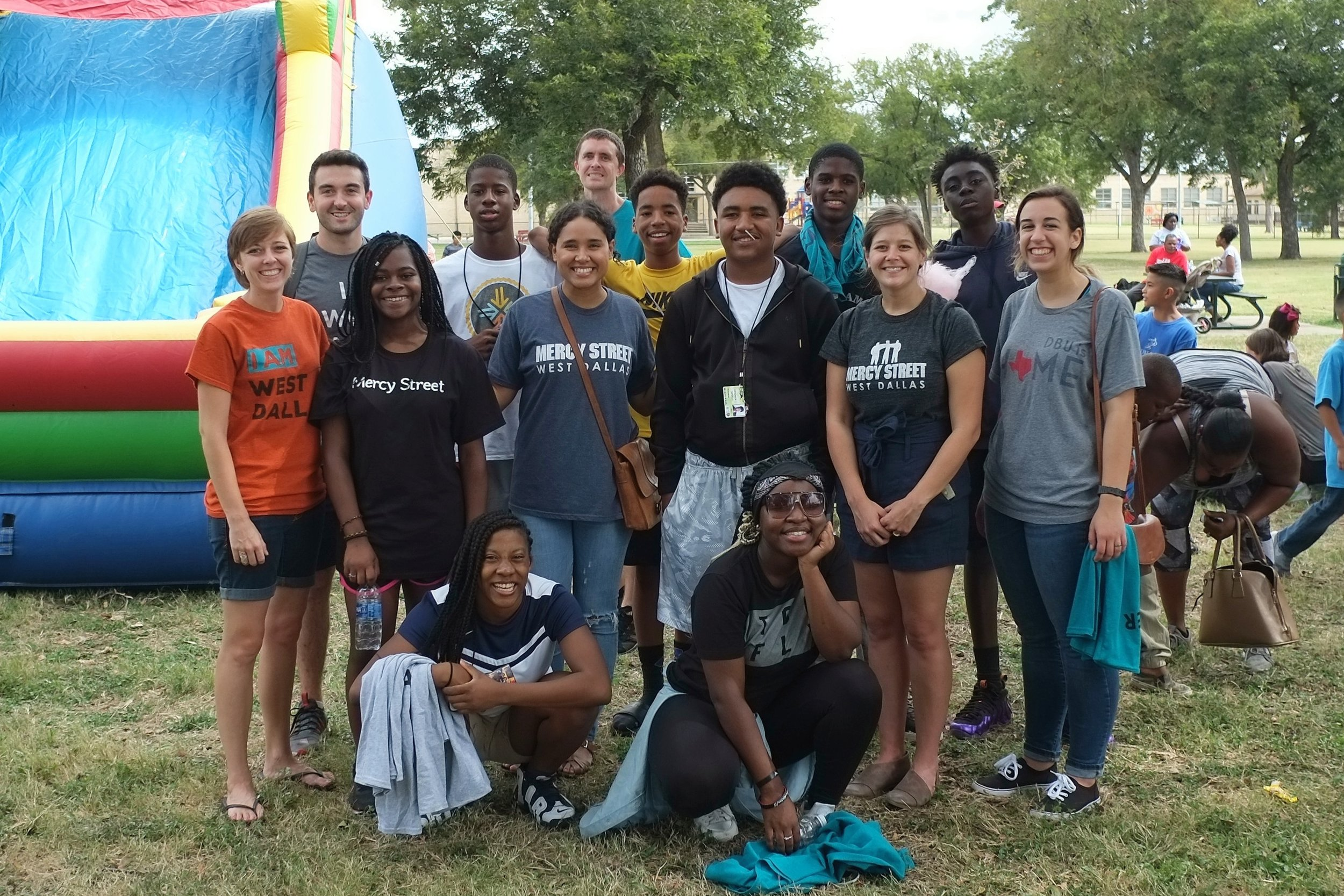 A group of Street Team students and leaders at West Dallas Day Out.