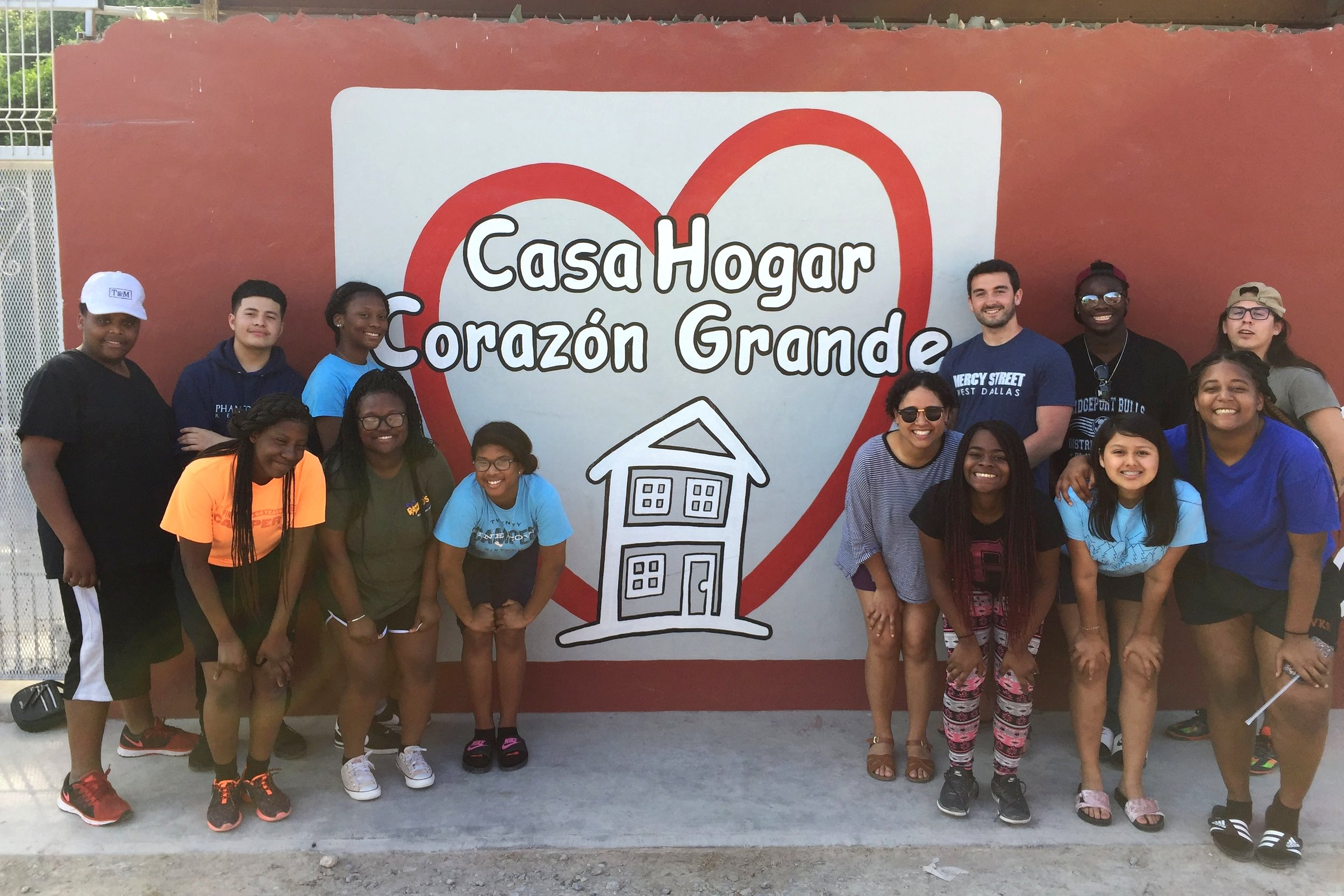 11th and 12th grade Street Team students visiting Mexico on a mission trip.