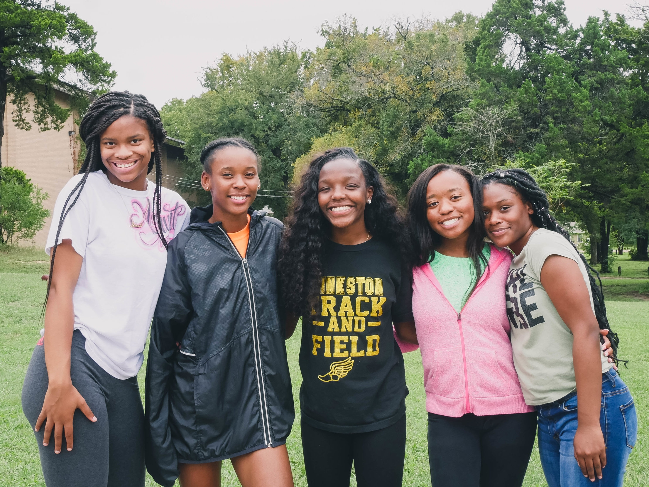 Ashunti (left) with her high school Street Team.