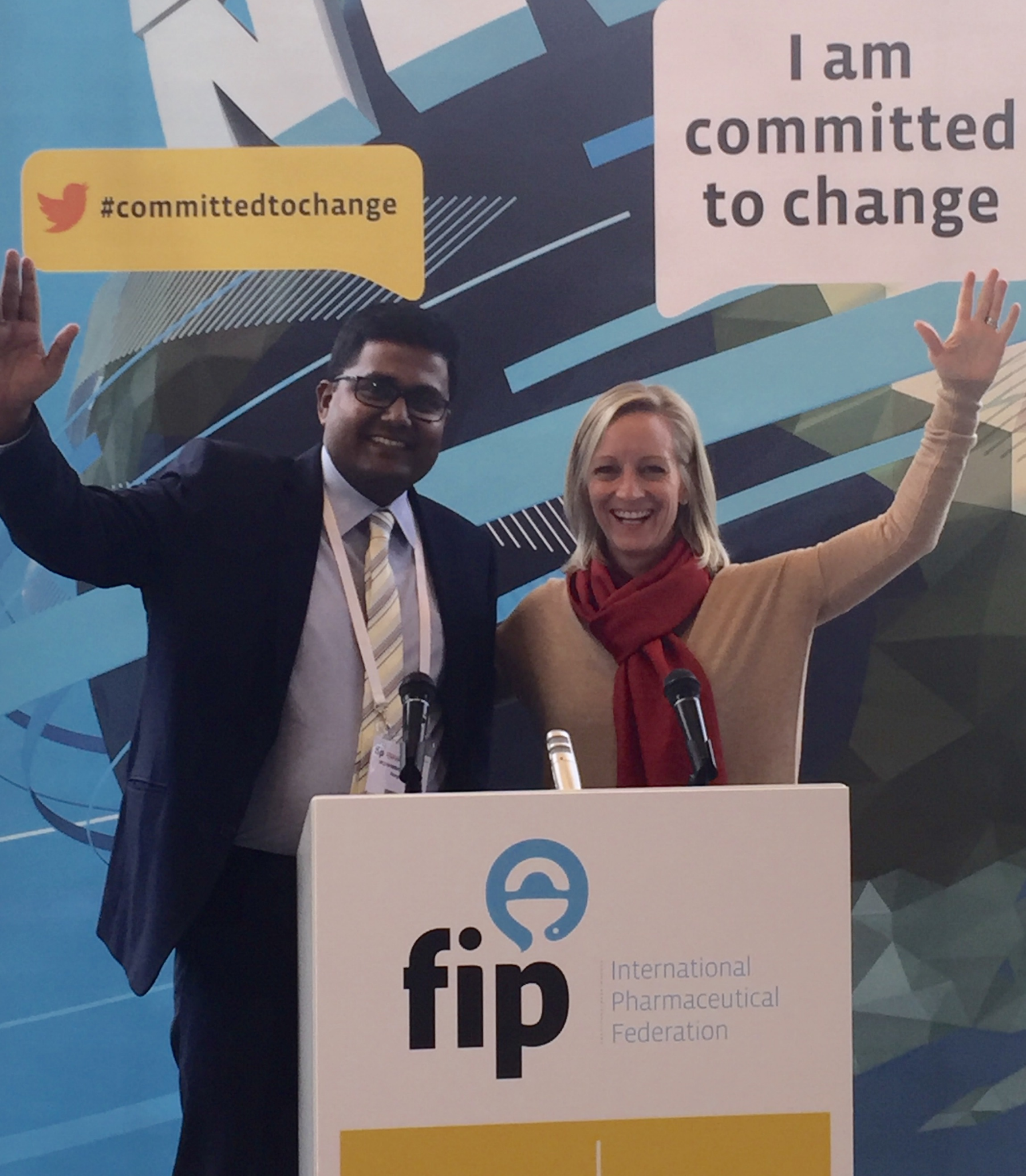 Bangladesh Country Director Mohammad Abusyed and CEO Tammy Allen publicize Vennue's commitment to global change while in Dusseldorf, Germany.