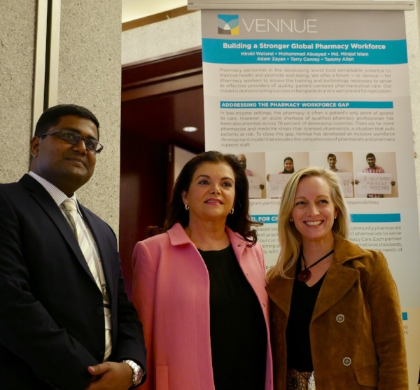 FIP's Dr Carmen Pena meets with Vennue leadership to learn about our work.