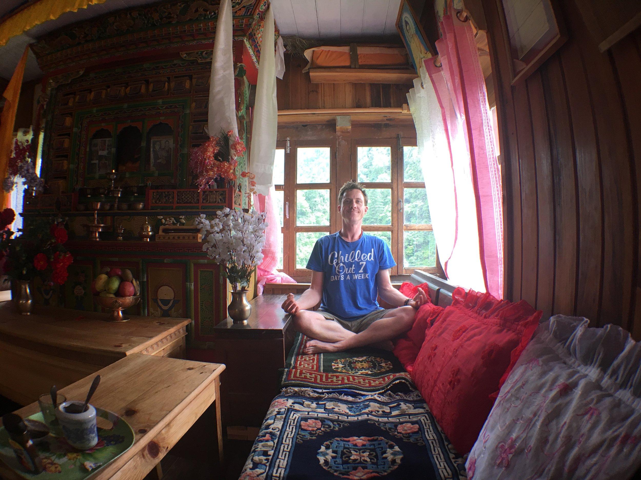 Owen levitating