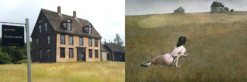 Our visit to  the Olsen House , will give insights to Wyeth's relationship with Christina and her family, as well as the landscape and life in Maine.
