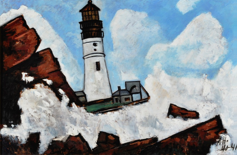 The rugged Maine coast and the lighthouses perched onshore captured the imagination of many American artists including Fitz H. Lane, Martin Heade, Sandford Gifford,Edward Hopper,Marsden Heartley, John Marin, and many more.