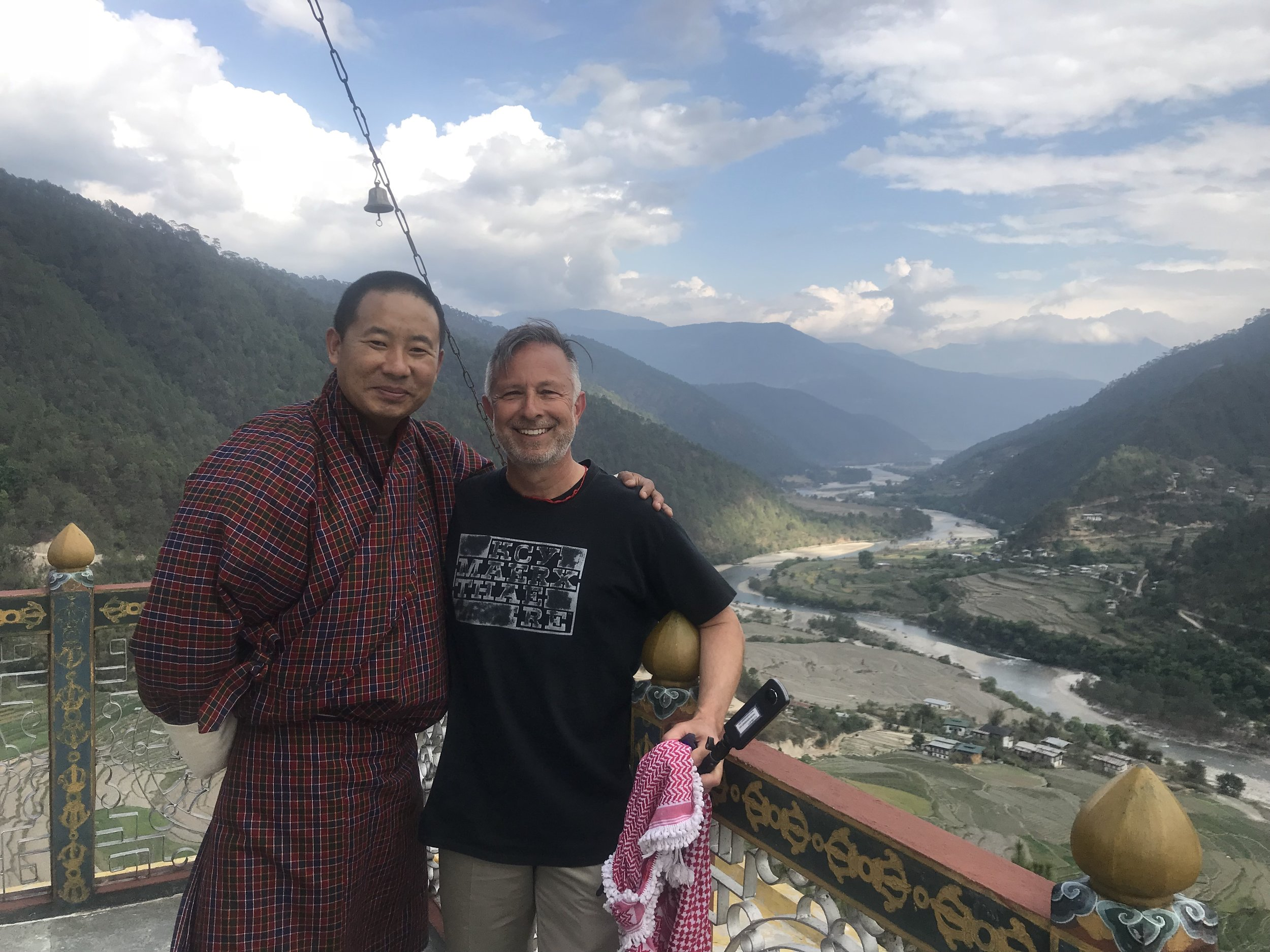 Your Bhutan guides: Dorji and Mark