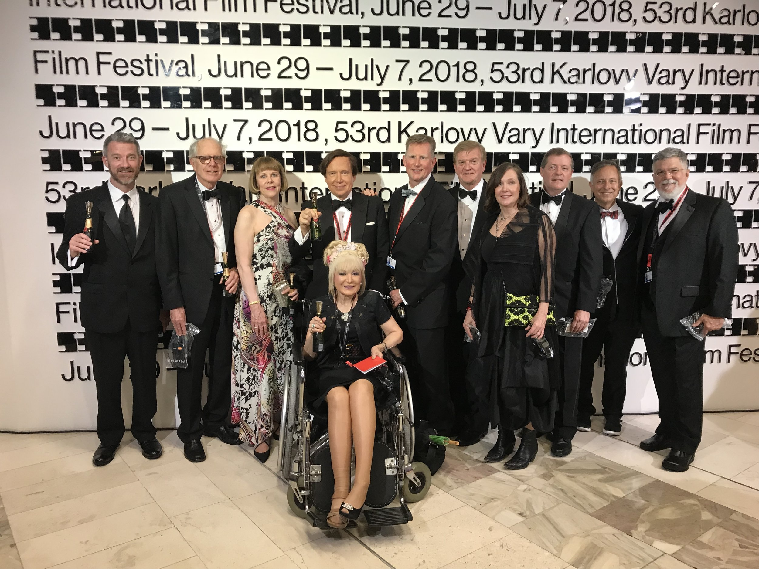 At the Glittering Black-Tie 53rd KVIFF Opening Ceremony. AFS Delegation participants from Texas, New York, Florida, and Michigan were there representing the worlds of Film, Architecture, Art, Law, Medicine, Entertainment, and Finance.